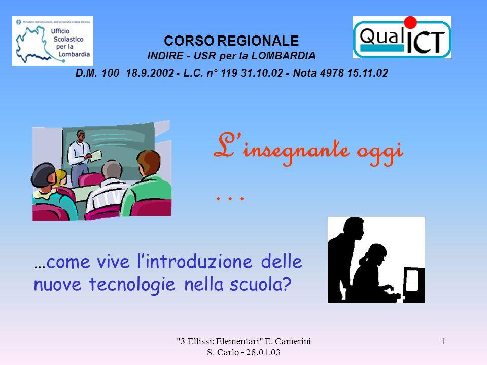 3 Ellissi: Elementari E.Camerini S.
