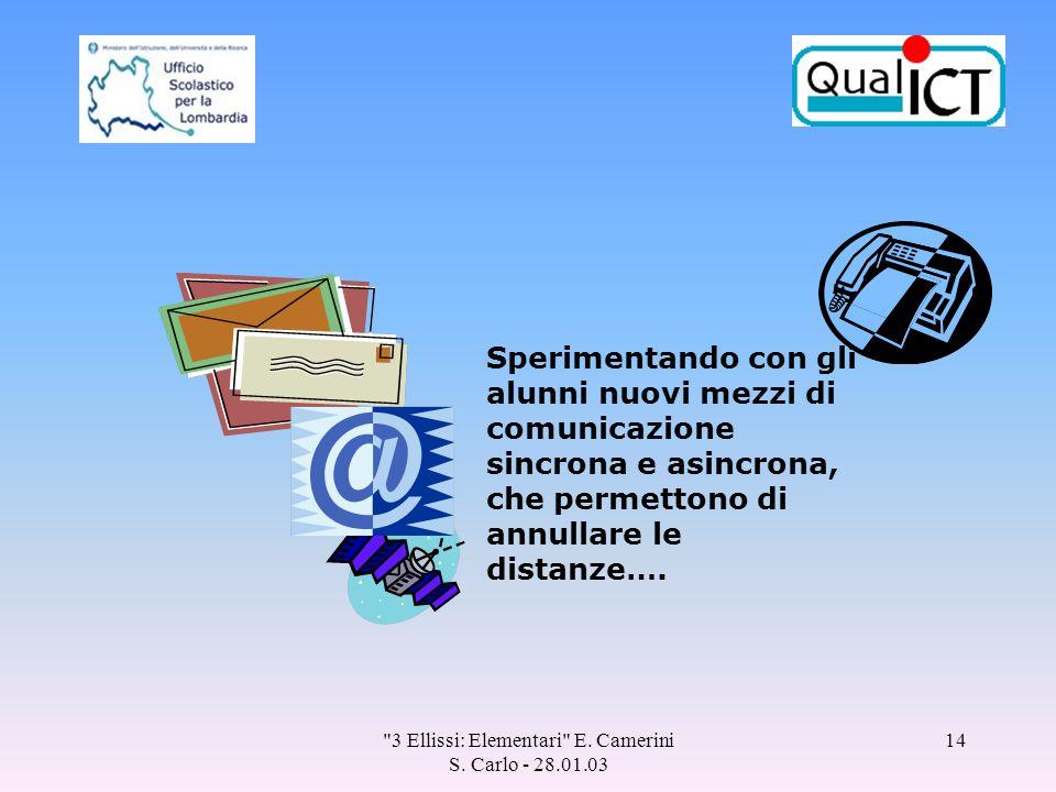 3 Ellissi: Elementari E. Camerini S.