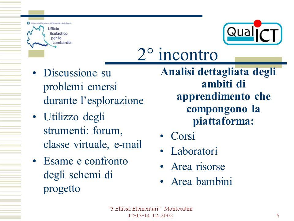 3 Ellissi: Elementari Montecatini 12-13-14. 12.