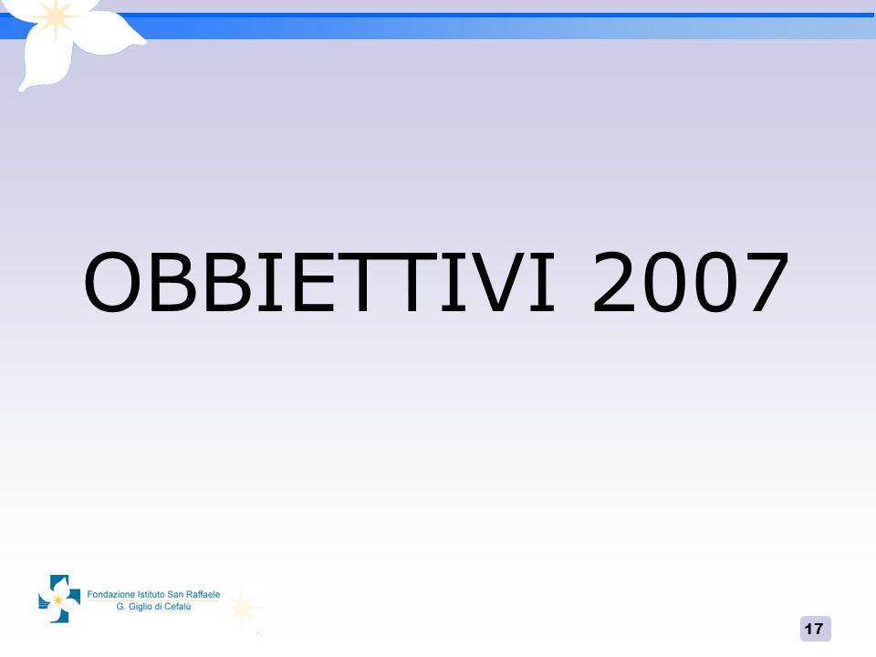17 OBBIETTIVI 2007