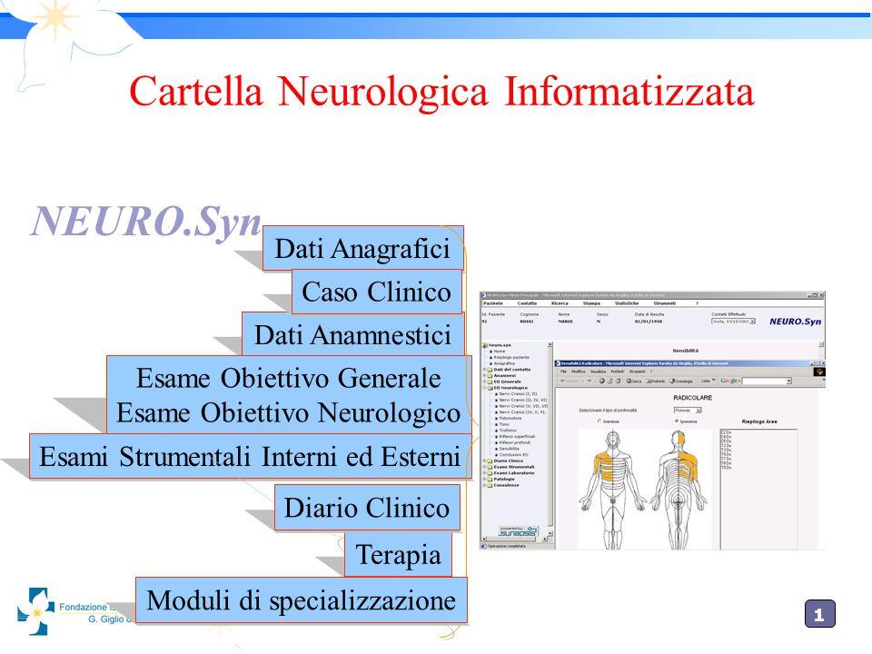 1 Cartella interfacciabile con i sistemi di gestione dei laboratori, mediante lo standard DICOM, permette di condividere immagini provenienti dai servizi di Radiologia.