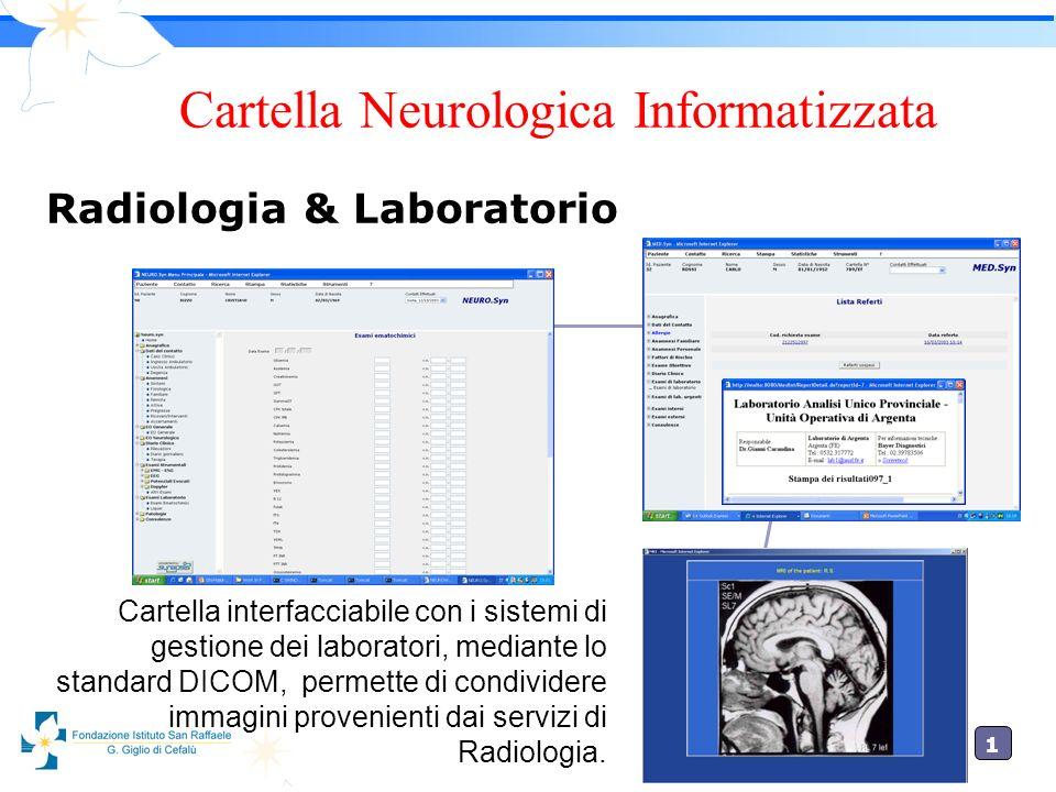 1 Cartella interfacciabile con i sistemi di gestione dei laboratori, mediante lo standard DICOM, permette di condividere immagini provenienti dai serv