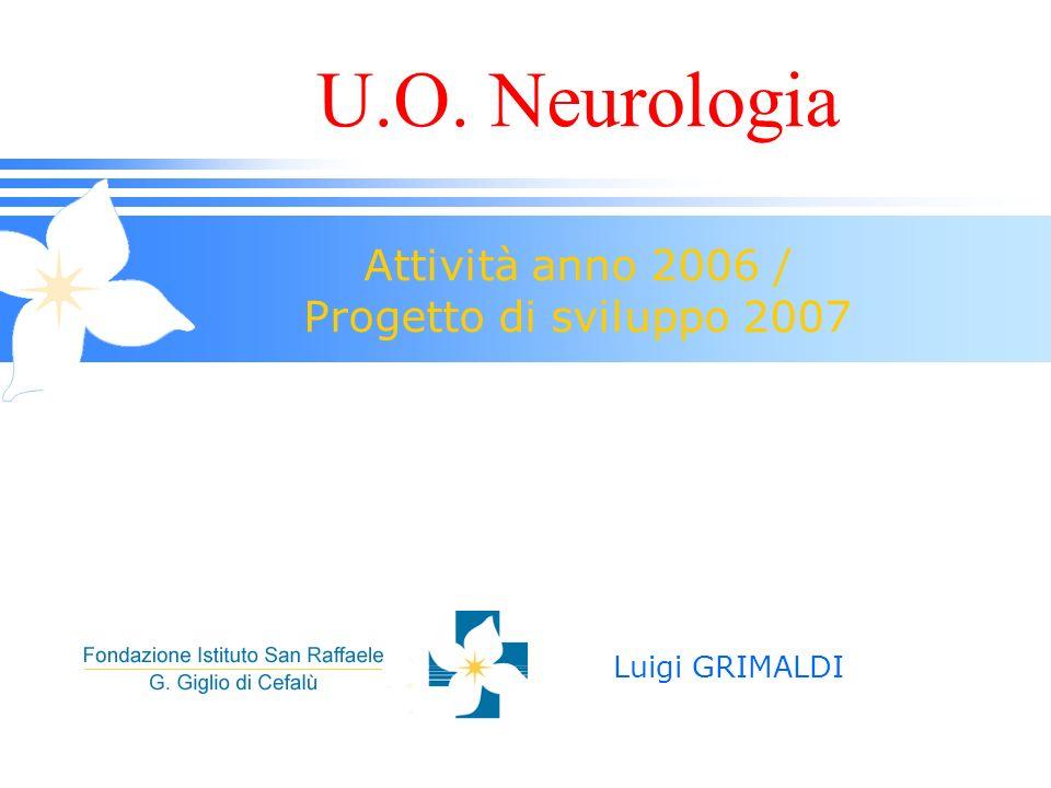 U.O. Neurologia Attività anno 2006 / Progetto di sviluppo 2007 Luigi GRIMALDI