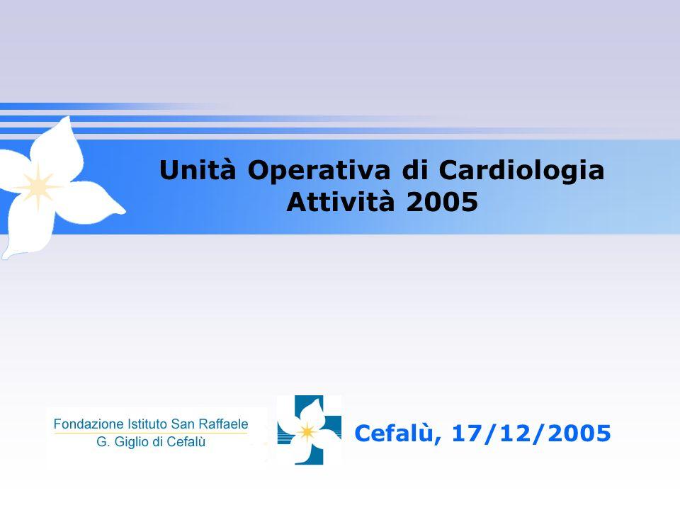 Unità Operativa di Cardiologia Attività 2005 Cefalù, 17/12/2005