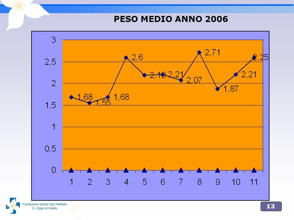 13 PESO MEDIO ANNO 2006