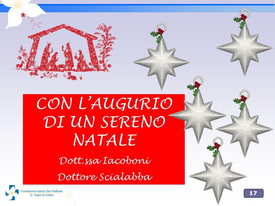 17 CON LAUGURIO DI UN SERENO NATALE Dott.ssa Iacoboni Dottore Scialabba