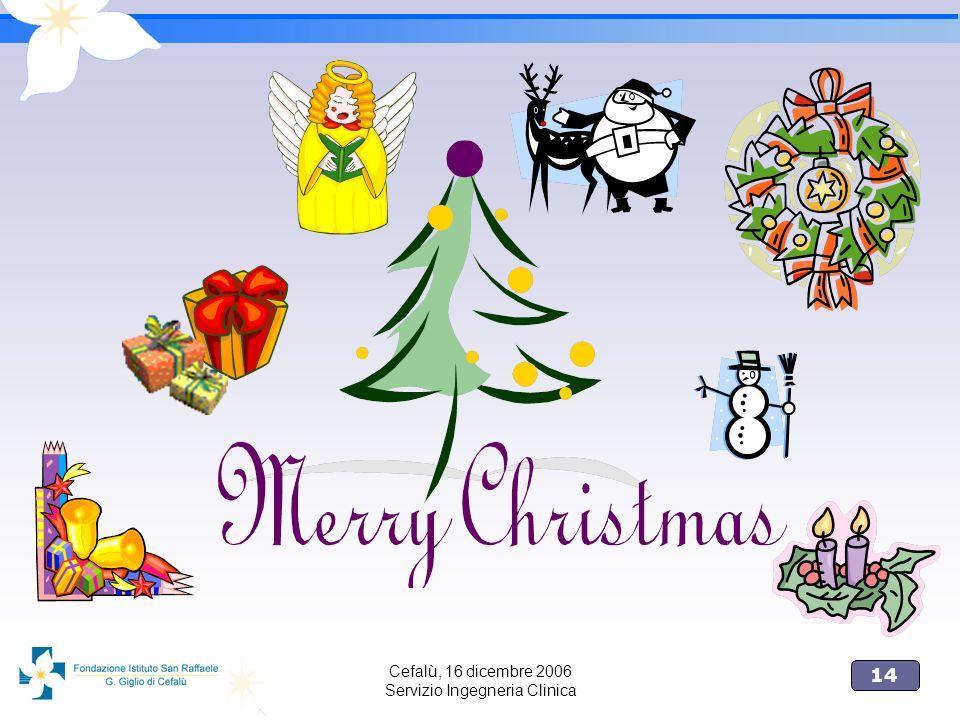 14 Cefalù, 16 dicembre 2006 Servizio Ingegneria Clinica