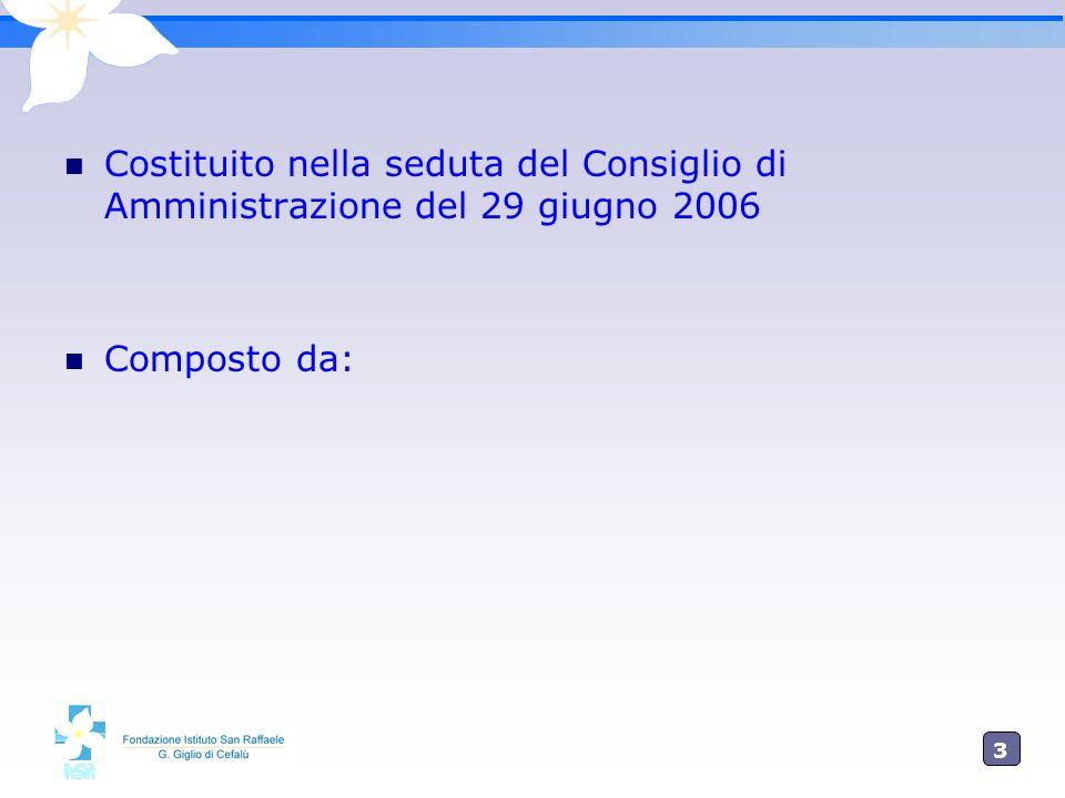 3 Costituito nella seduta del Consiglio di Amministrazione del 29 giugno 2006 Composto da: