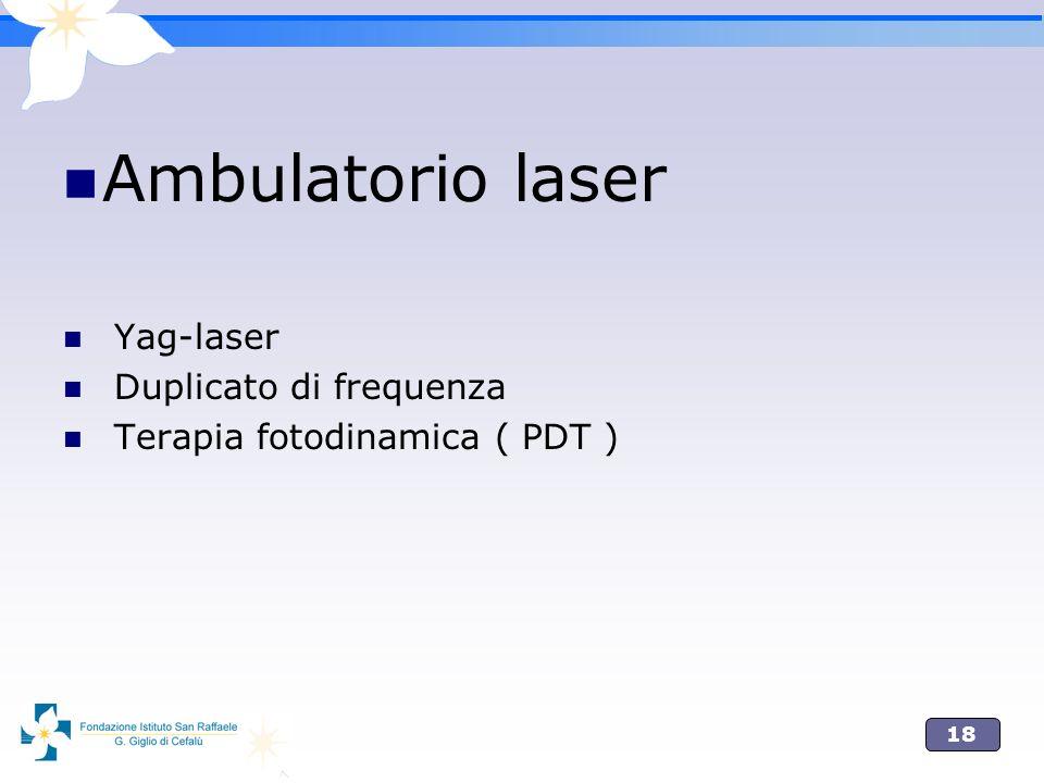 18 Ambulatorio laser Yag-laser Duplicato di frequenza Terapia fotodinamica ( PDT )