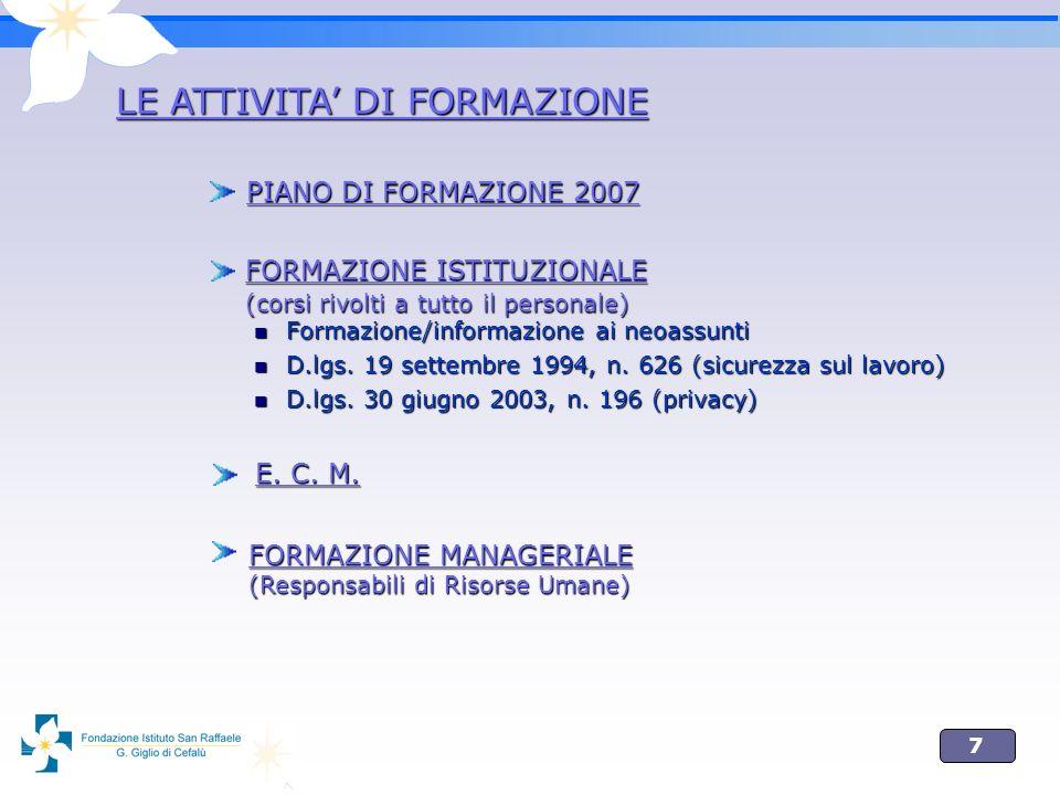 7 Formazione/informazione ai neoassunti Formazione/informazione ai neoassunti D.lgs.