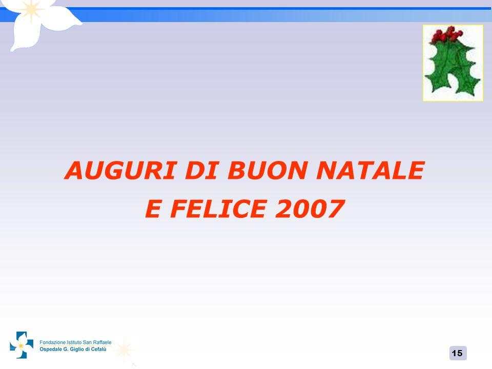 15 AUGURI DI BUON NATALE E FELICE 2007