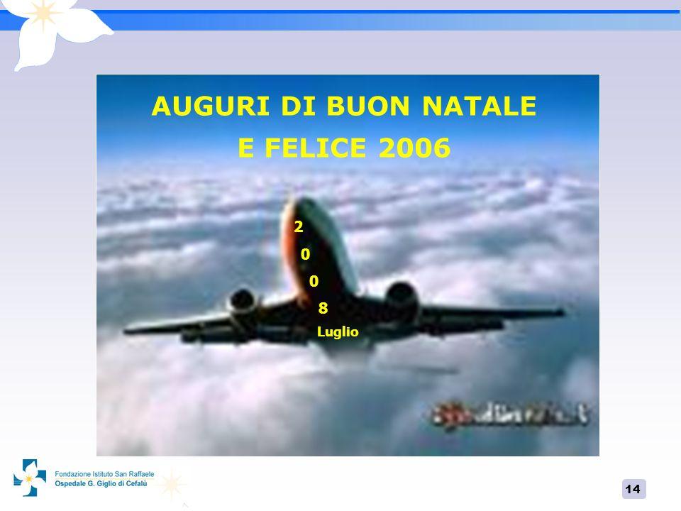 14 AUGURI DI BUON NATALE E FELICE 2006 2 0 8 Luglio