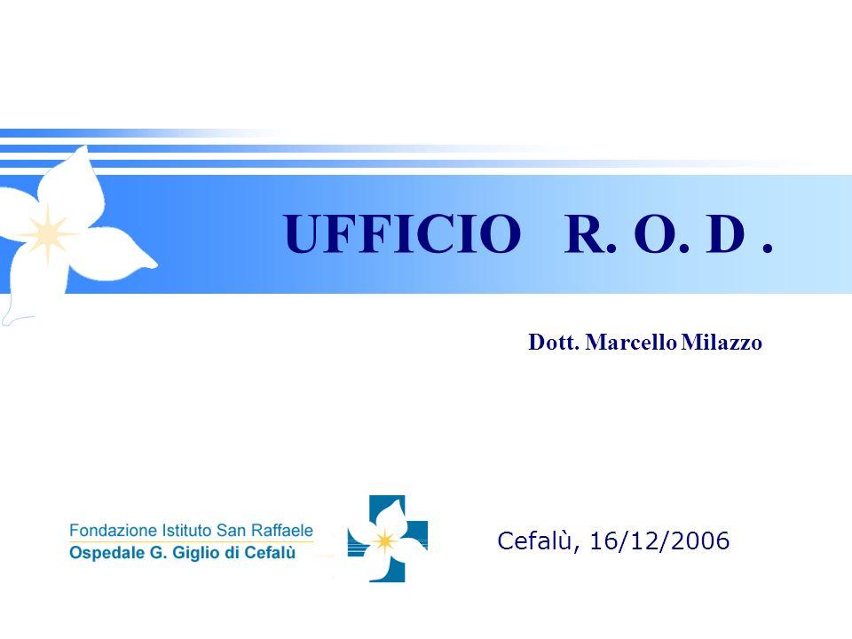 UFFICIO R. O. D. Cefalù, 16/12/2006 Dott. Marcello Milazzo