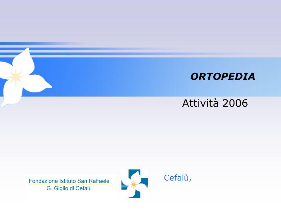 ORTOPEDIA Cefalù, Attività 2006
