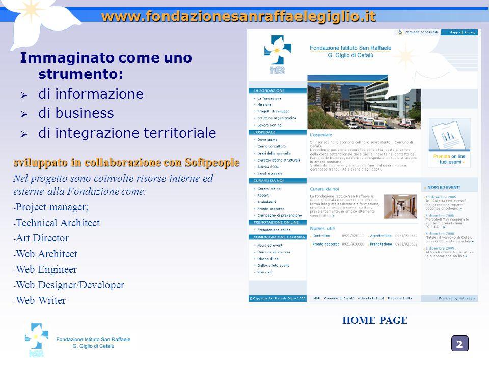 2020 www.fondazionesanraffaelegiglio.it Immaginato come uno strumento: di informazione di business di integrazione territoriale sviluppato in collabor