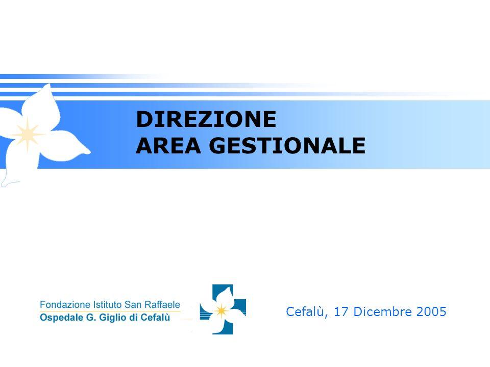 DIREZIONE AREA GESTIONALE Cefalù, 17 Dicembre 2005