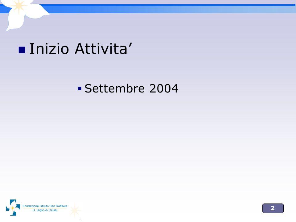 2 Inizio Attivita Settembre 2004