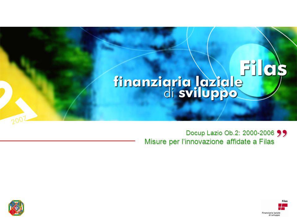 Docup Lazio Ob.2: 2000-2006 Misure per linnovazione affidate a Filas