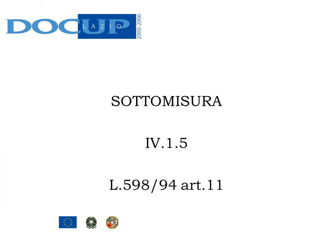 SOTTOMISURA IV.1.5 L.598/94 art.11