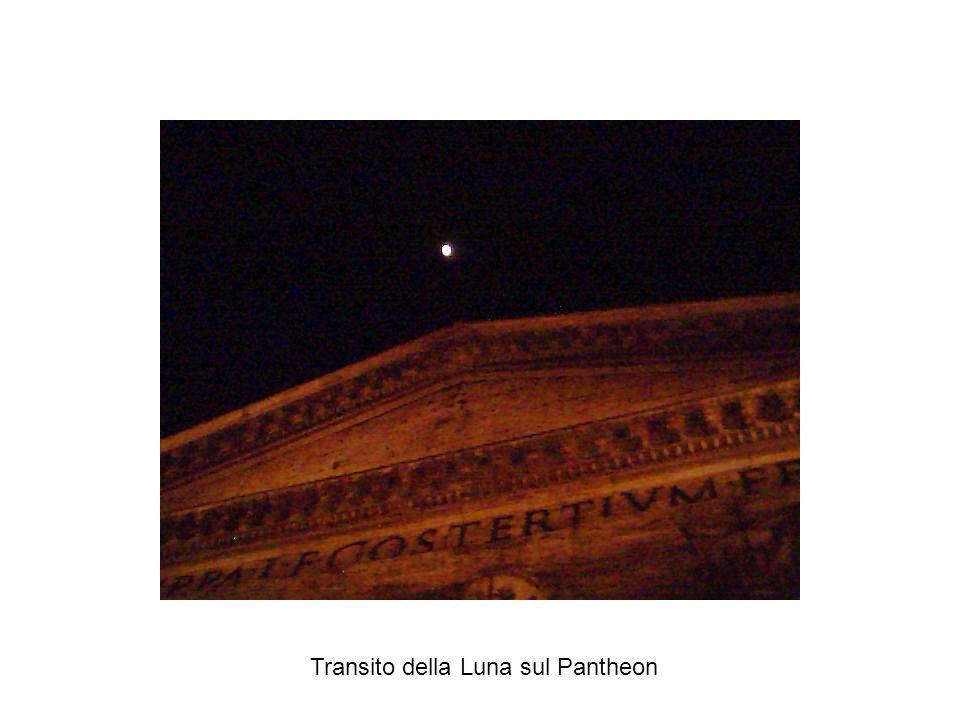 Transito della Luna sul Pantheon