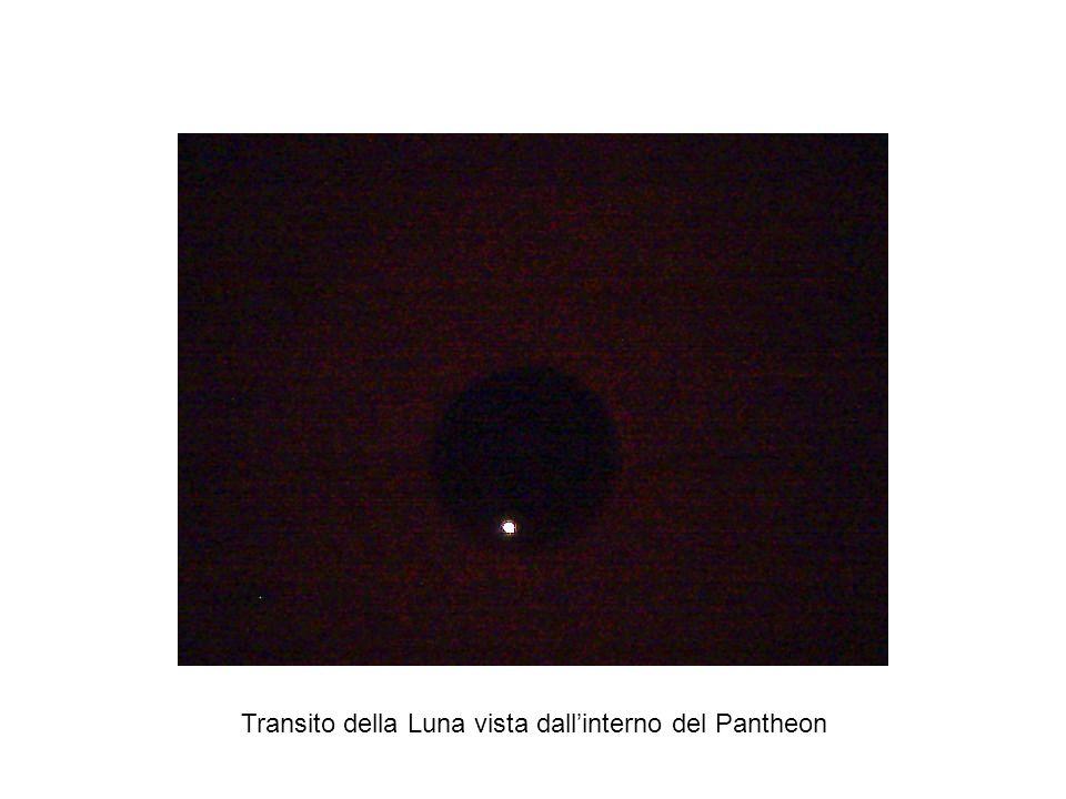 Transito della Luna vista dallinterno del Pantheon