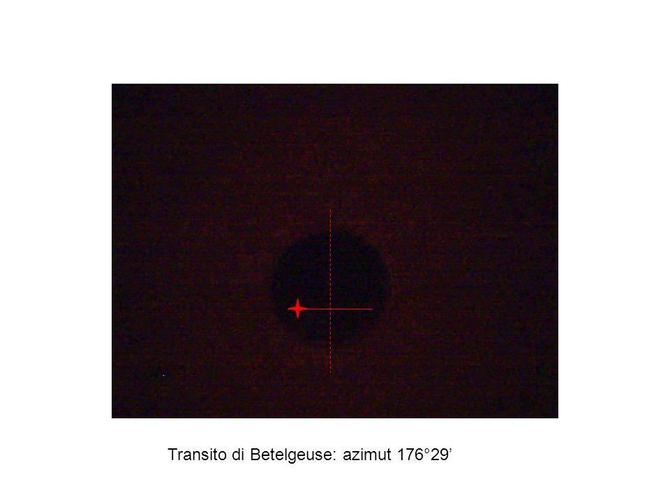 Transito di Betelgeuse: azimut 176°29