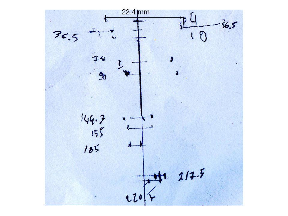 8.23 m Parte tagliata dal cilindro dingresso 0.44 m penombra: 44 cm, da sottrarre al diametro misurato Diametro oculus: 8.23 m