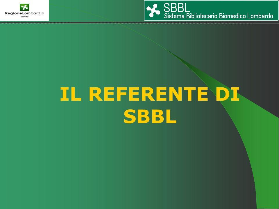 IL REFERENTE DI SBBL