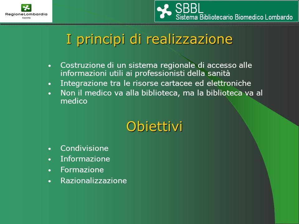 Costruzione di un sistema regionale di accesso alle informazioni utili ai professionisti della sanità Integrazione tra le risorse cartacee ed elettron