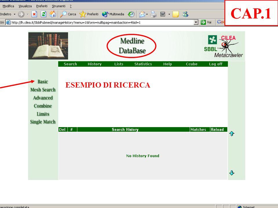 ESEMPIO DI RICERCA CAP.1