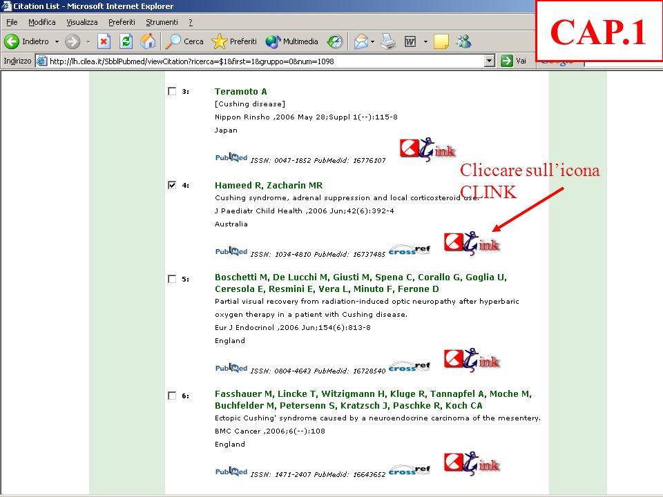 Cliccare sullicona CLINK CAP.1