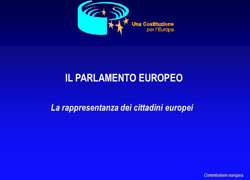 IL PARLAMENTO EUROPEO La rappresentanza dei cittadini europei Commissione europea