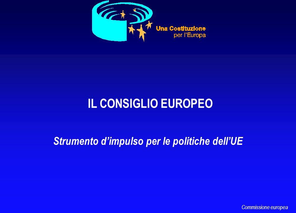 IL CONSIGLIO EUROPEO Strumento dimpulso per le politiche dellUE Commissione europea