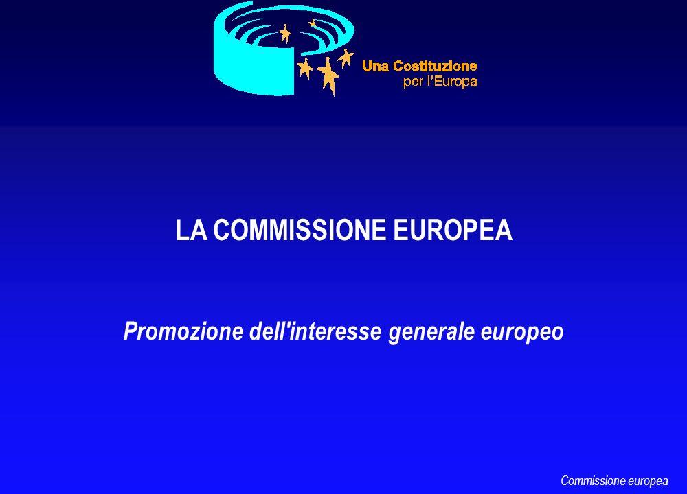 LA COMMISSIONE EUROPEA Promozione dell'interesse generale europeo Commissione europea