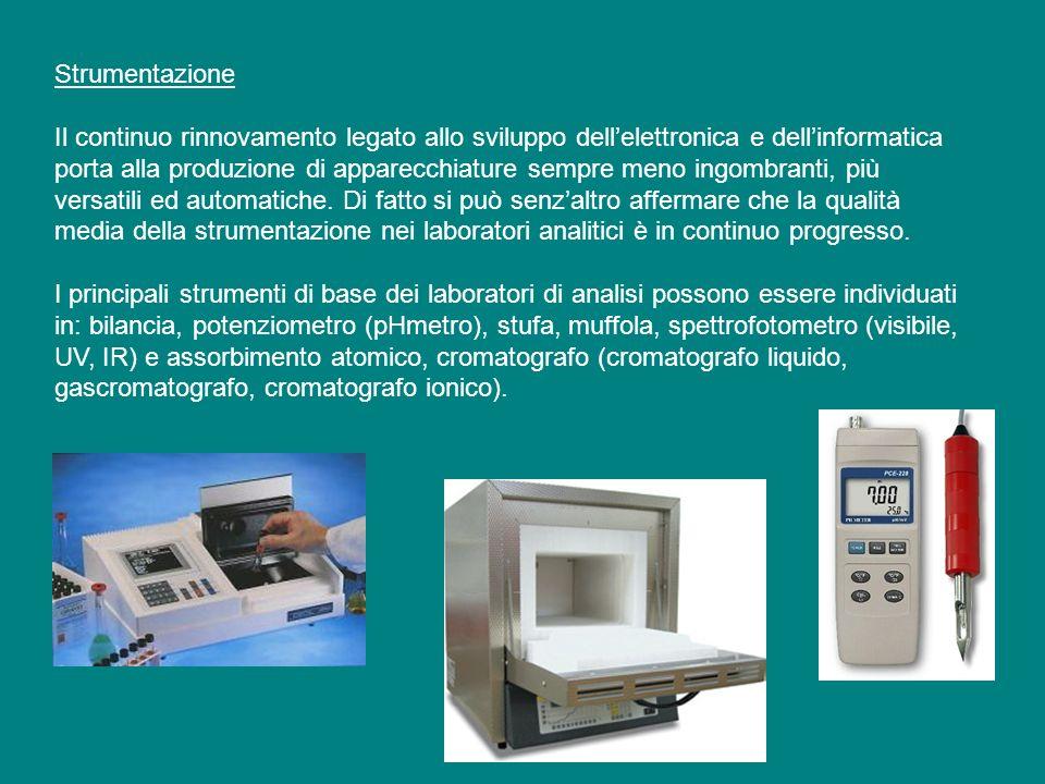Strumentazione Il continuo rinnovamento legato allo sviluppo dellelettronica e dellinformatica porta alla produzione di apparecchiature sempre meno in