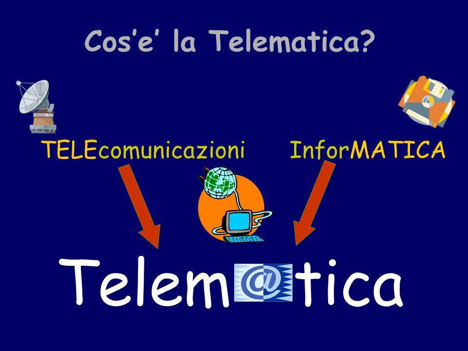 Cose la Telematica InforMATICATELEcomunicazioni Telemtica