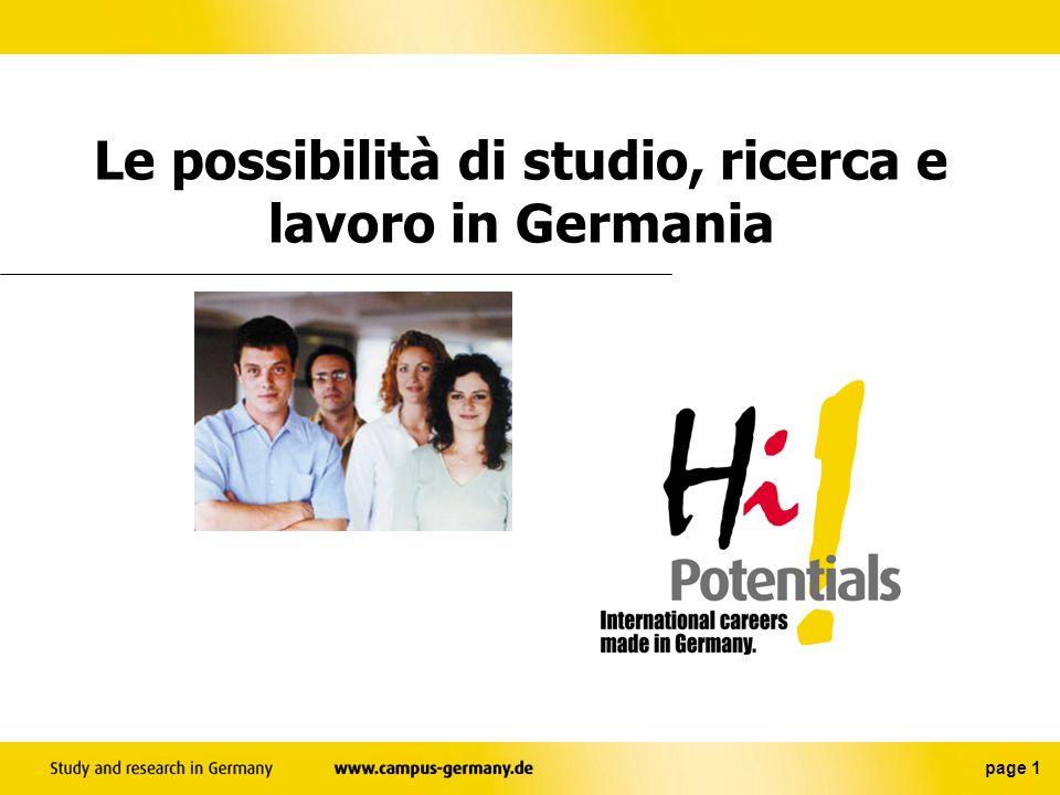 Le possibilità di studio, ricerca e lavoro in Germania page 1