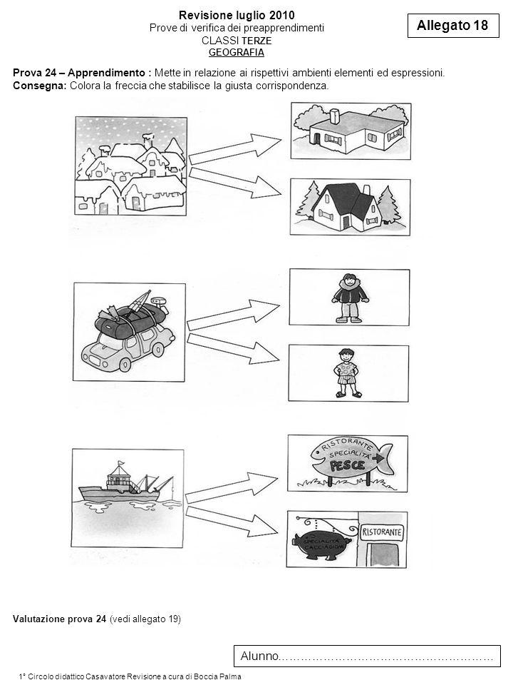 Prova 24 – Apprendimento : Mette in relazione ai rispettivi ambienti elementi ed espressioni.
