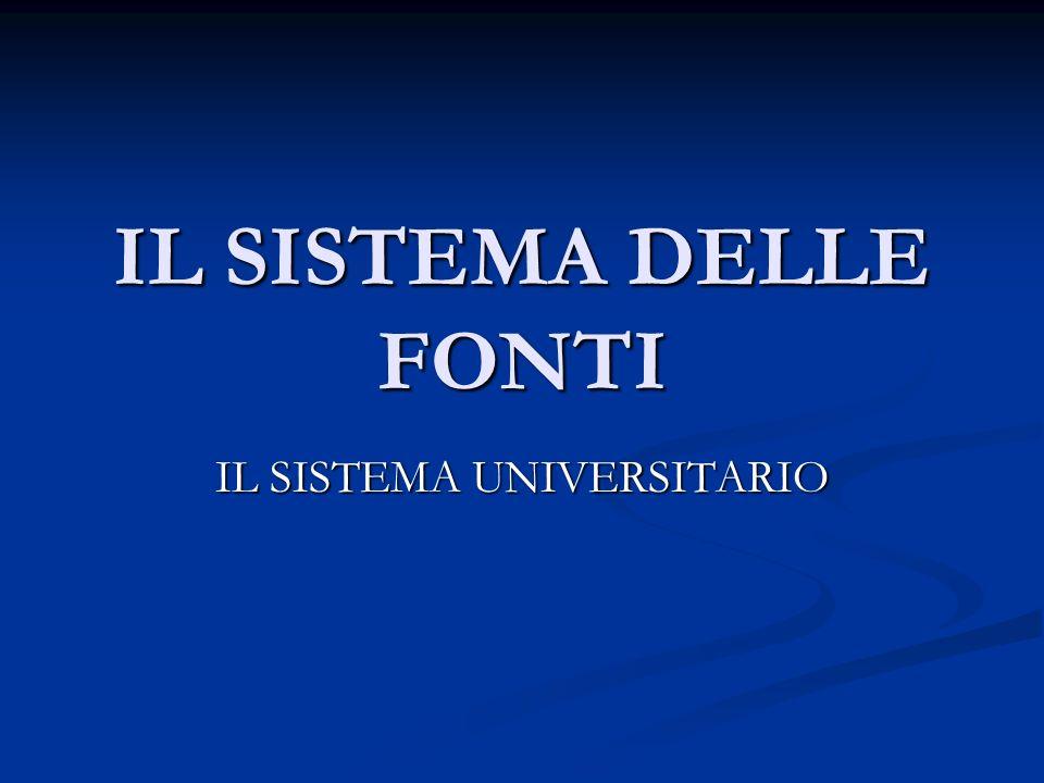 Sistema delle fonti Fonti Costituzionali Fonti primarie Fonti secondarie Fonti consuetudinarie
