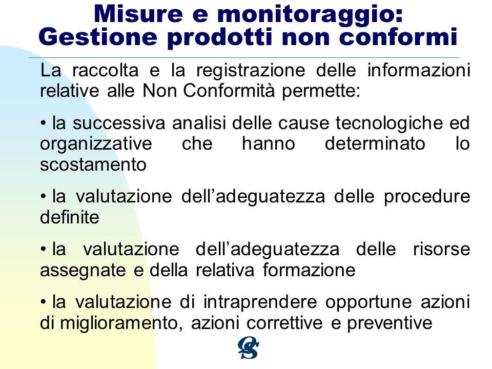 La raccolta e la registrazione delle informazioni relative alle Non Conformità permette: la successiva analisi delle cause tecnologiche ed organizzati