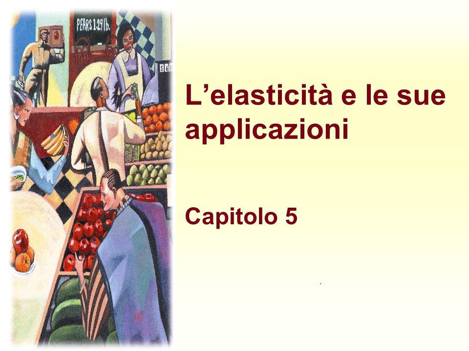 Lelasticità e le sue applicazioni Capitolo 5.