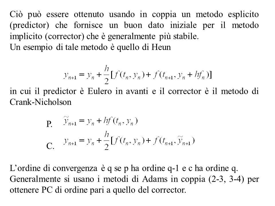 Ciò può essere ottenuto usando in coppia un metodo esplicito (predictor) che fornisce un buon dato iniziale per il metodo implicito (corrector) che è
