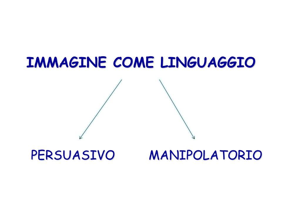 IMMAGINE COME LINGUAGGIO PERSUASIVOMANIPOLATORIO