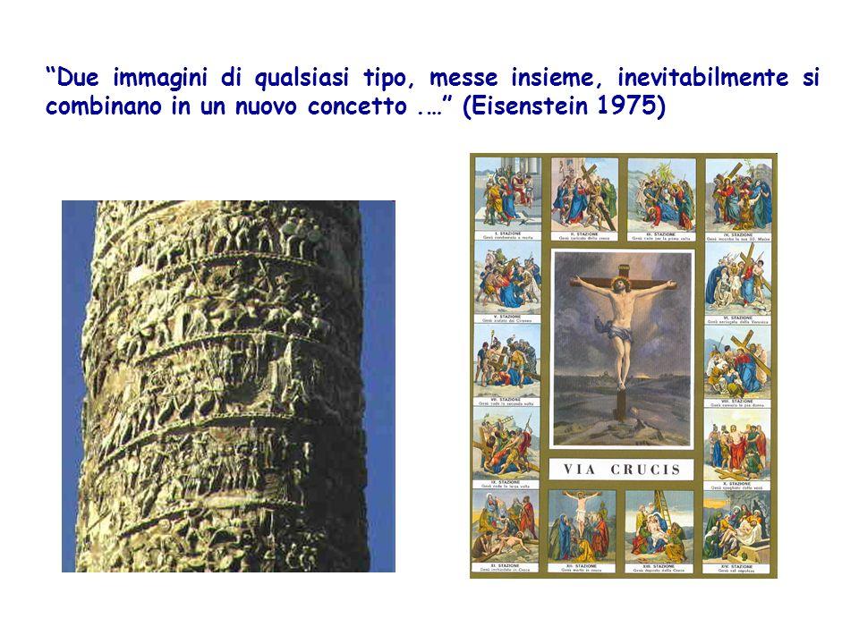 Due immagini di qualsiasi tipo, messe insieme, inevitabilmente si combinano in un nuovo concetto.… (Eisenstein 1975)