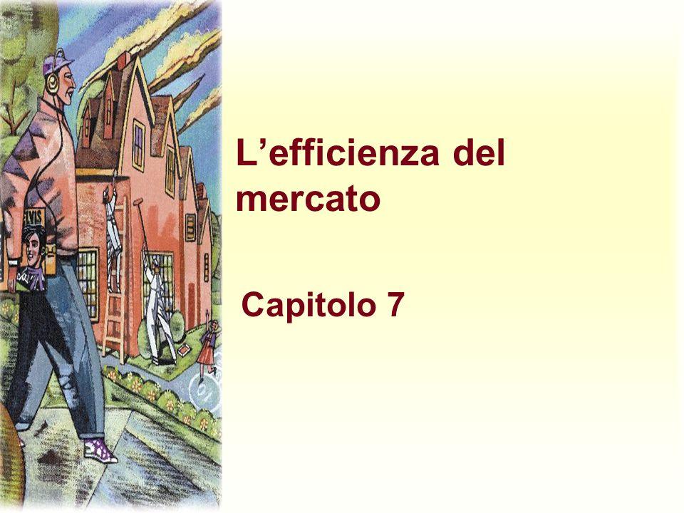 Lefficienza del mercato Capitolo 7