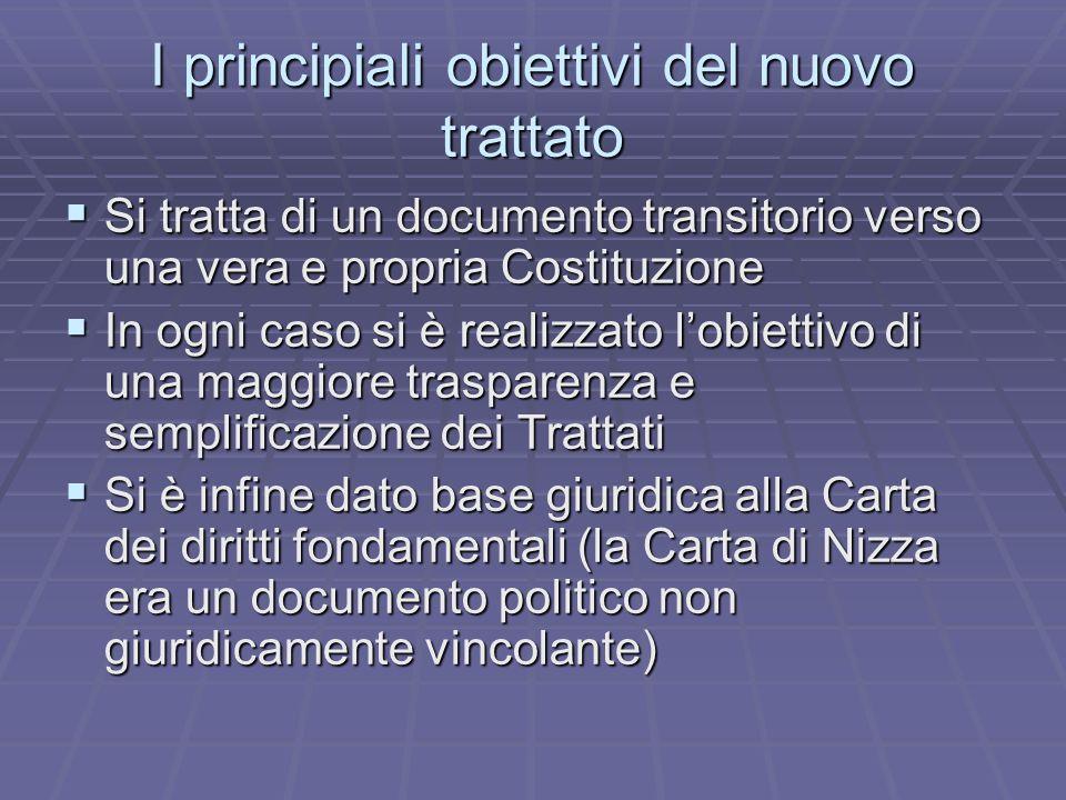 Diversa prospettiva Il trattato per la Costituzione è una Costituzione nuova ed originale: nel senso di ordinamento giuridico del processo di integrazione, non nel senso Schimittiano di Costituzione-decisione.