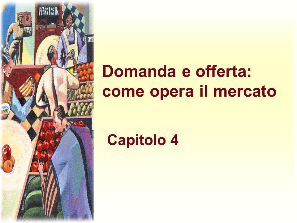 Domanda e offerta: come opera il mercato Capitolo 4