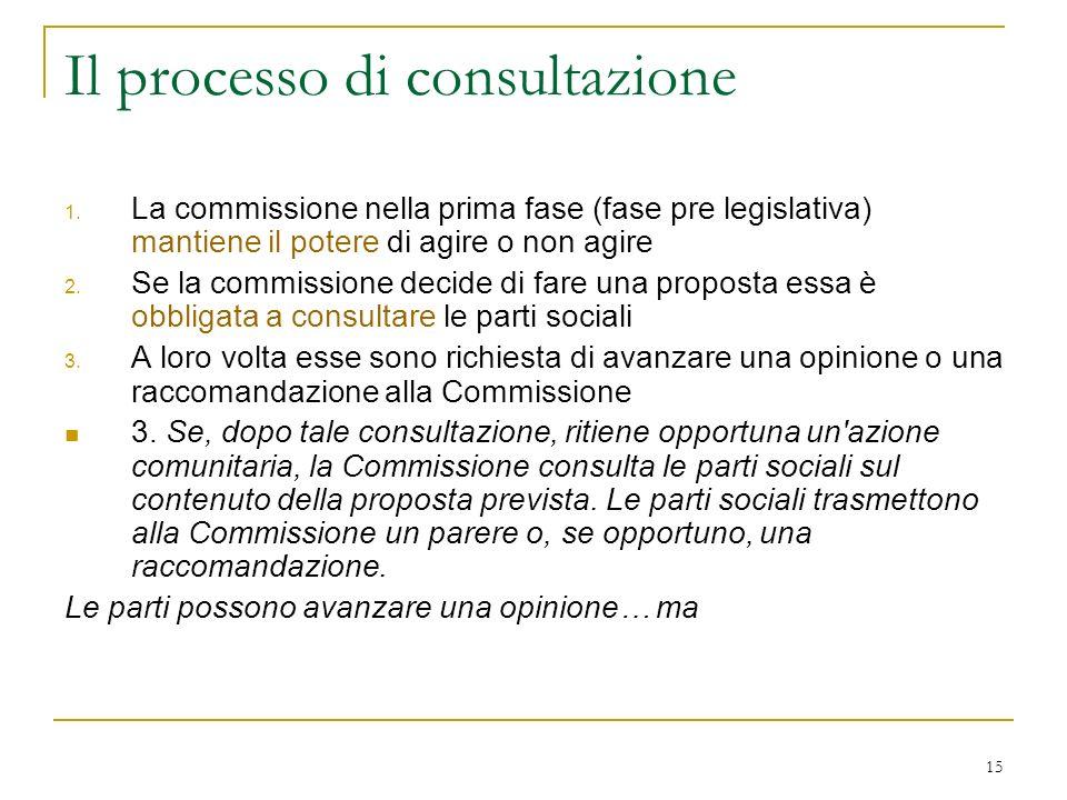 15 Il processo di consultazione 1.