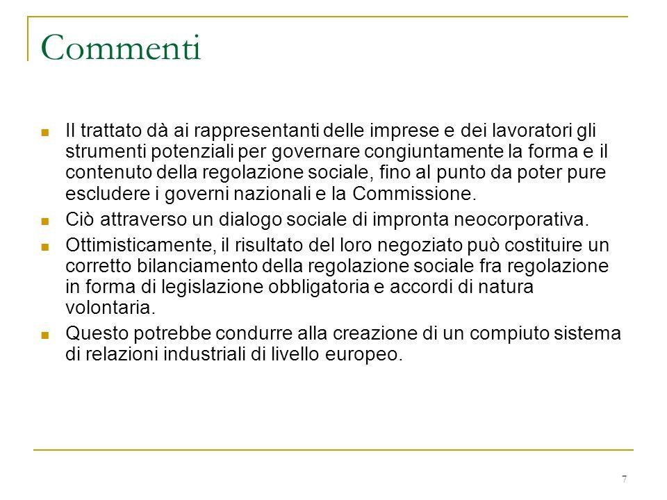 8 Documenti della Commissione.