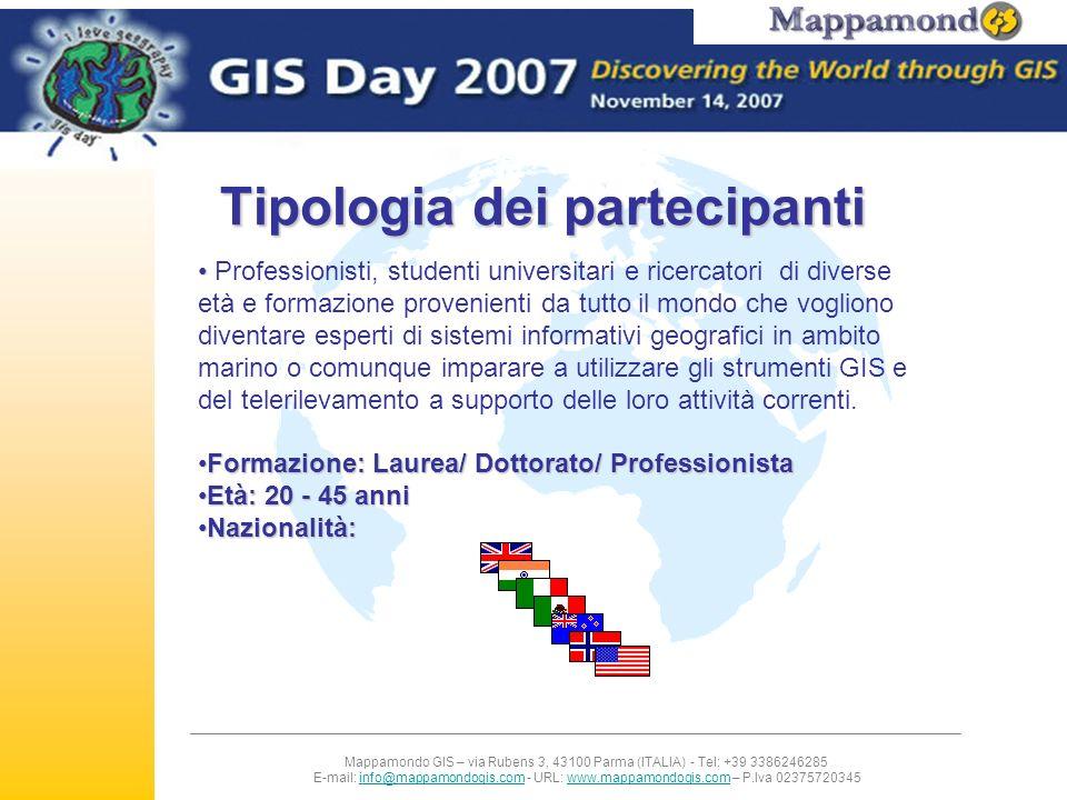 Mappamondo GIS – via Rubens 3, 43100 Parma (ITALIA) - Tel: +39 3386246285 E-mail: info@mappamondogis.com - URL: www.mappamondogis.com – P.Iva 02375720